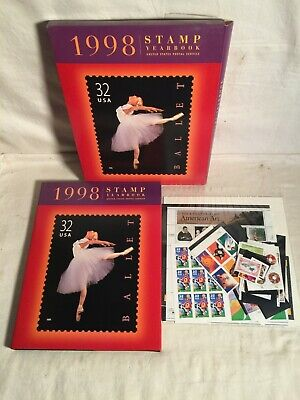 1998 USPS Commemorative STAMP YEARBOOK + Stamps post office set NEW