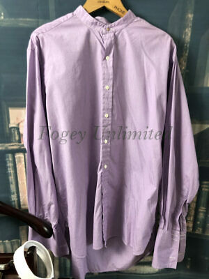 """Pakeman Traditional Collarband Tunic Shirt for your Stiff collar 17 1/2"""" Purp..."""