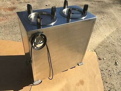 Delfield CAB2-913ET Even-Temp Mobile Enclosed 2-Stack Heated Dish Dispenser Cabt