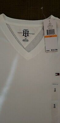 Tommy Hilfiger T-Shirt Mens Crew Neck Tee Classic Fit Short Sleeve Solid Shirt.
