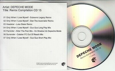 DEPECHE MODE Remix Compilation CD 15 official 2002 UK Mute 7-track promo CD-R