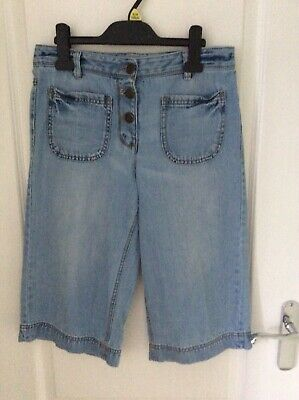 Girls NEXT Denim Knee Length Culottes Age 12 Years WORN ONCE
