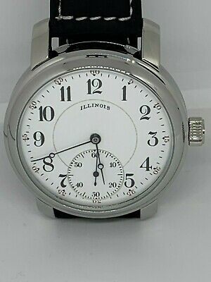 Illinois Stewart  16s 3 finger 17 jewel rare Marriage watch