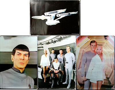 Original Set of 4 Star Trek:The Motion Picture Store Promo Posters 17x25- RARE!