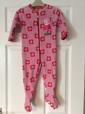 Mothercare Pink Peppa Pig Fleece All In One 18-24 Months