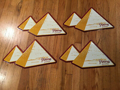 Vintage X4 Pyramid Breweries Beer Tin Sign Advertising Pub Bar Decor Seattle WA