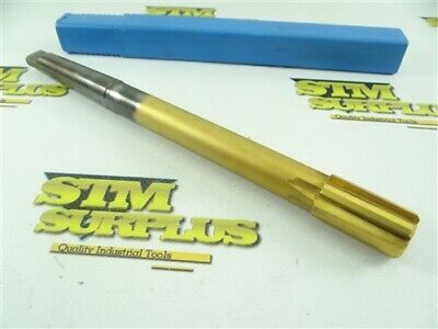 Straight Shank Carbide Tipped + Tin Coated Expansion Reamer 25/32""