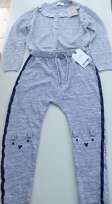 Next girls cardigan and jogging bottoms age 2-3 years