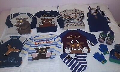 Boys BIG Gorgeous Gruffalo Bundle~Jumpers,Tops,PJs,Slippers & More! 4-5yrs