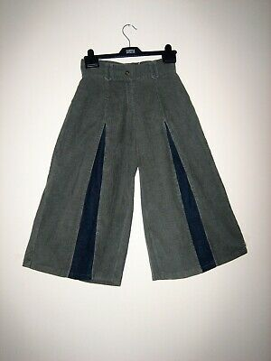 Today 100% Cotton  wide cord denim cropped trousers  156cm New with tags