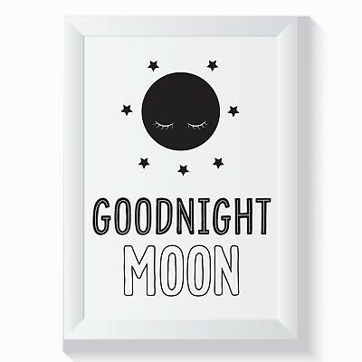 Cute home decor wall art print QUOTE - living room, bedroom GOODNIGHT MOON