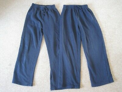 2 pairs of blue navy tracksuit / jogging trousers age 11-12 height 146cm - TU