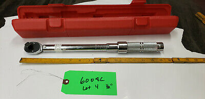 "Proto  6008C 1/2"" Drive Torque Wrench w/Case 16-80 ft.lb Range lot#4 green 9shf"