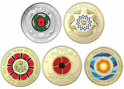 $2 coins Police Anniversary - Repatriation - Eternal Flame - Remembrance- NZ 50c