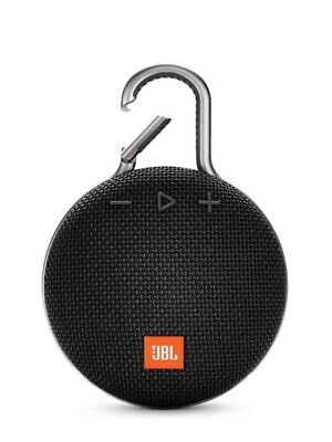 NEW— JBL Clip 3 Rechargeable Waterproof Portable Speaker - Black