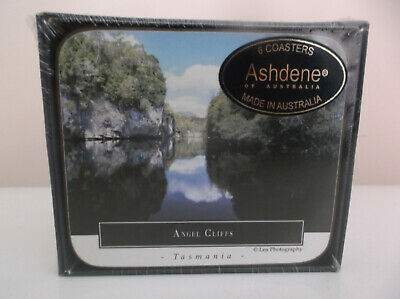 New - Ashdene Australia 6 Drink Coasters - Tasmania Wilderness