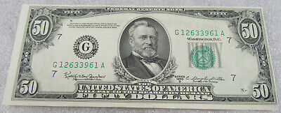 1950-D US $50 Federal Reserve Chicago, Illinois * Uncirculated Banknote