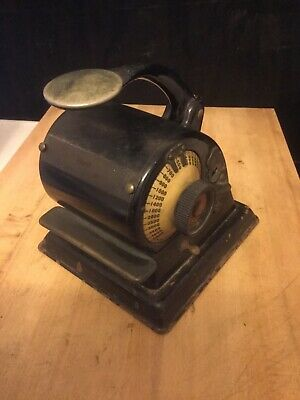 G.W. Todd & Co. Protectograph Model H. Check writing machine. Works!