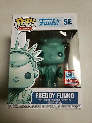 Funko Pop! Freddy Funko Statue of Liberty FallCon 2017 Figure W/POP PROTECTOR