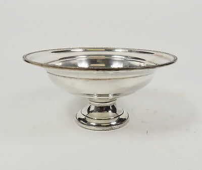 "Vintage Hamilton Sterling Silver Weighted 9"" D Pedestal Fruit Bowl Compote 474 G"