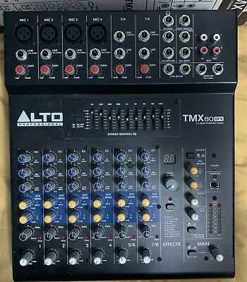 Alto Professional TMX80 DFX, 8 Channel 2X350W Stereo Powered Mixer.FREE SHIPPING