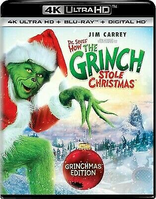 How the Grinch Stole Christmas 4K/Blu-ray/Digital w/ slipcover - new/sealed