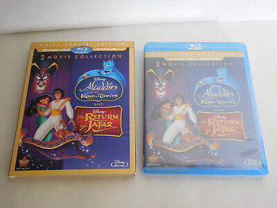 Sealed Aladdin II & III Bluray Return of Jafar King of Thieves Disney Movie Club