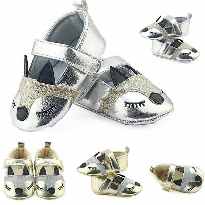 Infant Toddler Anti-slip Prewalker Cute Fox PU Leather Baby Shoes Soft Soled