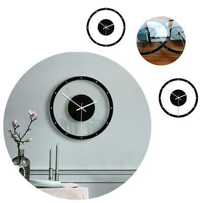 Nordic Style Wall Clock Silent Transparent Acrylic Room Home Decor Living C N3B9