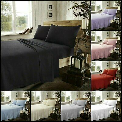 1800TC SINGLE-DOUBLE-QUEEN-KING 4PCS Bed FITTED SHEET(Fitted & Pillowcases)