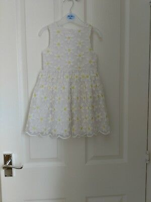 Brand New Without Tags Girls White/Yellow Dress 24-36 Months
