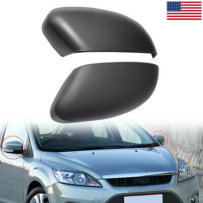Driver+Passenger Rearview Side Mirror Cover Cap for Ford focus MK2/MK3 2010-2015