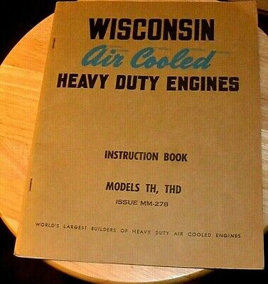 Wisconsin TH THD ENGINE PARTS MANUAL / BOOK INSTRUCTION MAINTENANCE GUIDE