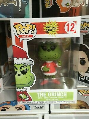 Funko POP! Books Dr. Seuss The Grinch #12 Santa vinyl Figure w POP PROTECTOR