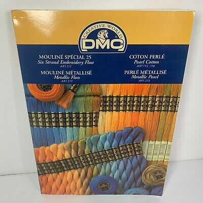 DMC Floss Color Card Book with Real Thread Samples Stitch Embroidery Metallic