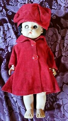 Doll Soft Rubber Vintage with Old Handmade Outfit