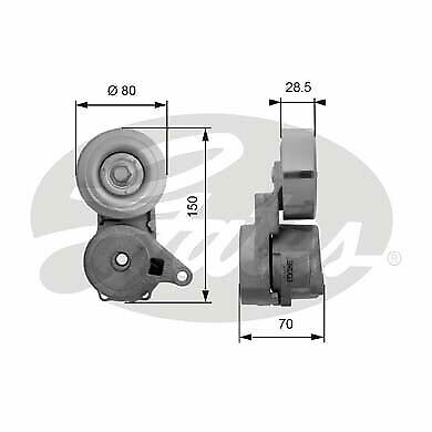 Gates Alternator Drive Belt Kit For Opel Suzuki Vauxhall Tensioner K015PK1355