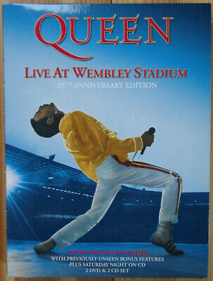 Queen Live At Wembley Stadium 25th Anniversary Edition 2DVD 2CD Set July 1986 UK