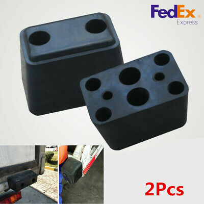 2x Bumper Protector Guard Pad Kit Truck Van Lorry Front Back Wall Rear Thick-USA