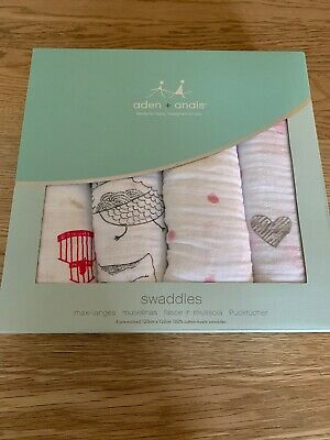 Aden + Anais CLASSIC SWADDLE - 4 PACK - LOVEBIRD Baby BN