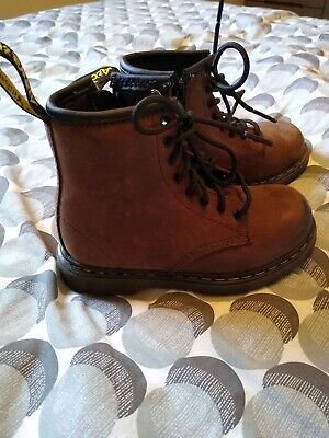 Children's Dr Martens Size 8 Brown Leather Excellent Condition