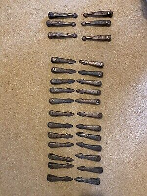 30 Vintage Cast Iron Carpet Runner Stair Clips, Grips, Grippers