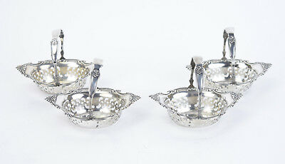 "Set 4 Gorham Sterling Silver ""Cromwell"" Charming Little Nut Dish Gift Baskets"