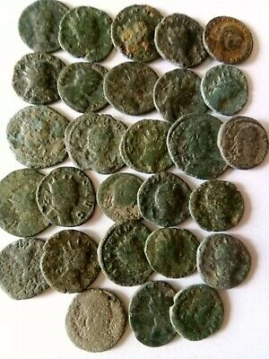 002.Lot of 28  Ancient Roman Bronze Coins,Uncleaned