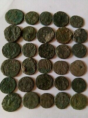005.Lot of 30 Ancient Roman Bronze Coins,Uncleaned