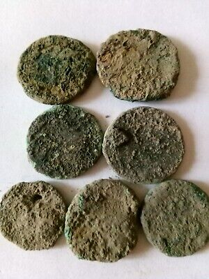 007.Lot of 7 Ancient Roman Big Bronze Coins,Uncleaned,Unopened,71,6gr