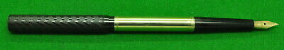 Early Watermans 15 Eyedropper Black Hard Rubber with Gold filled overlay. MINT