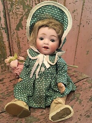 Lovely Antique Doll Original Clothes Circa 1920s-1940s Bisque Composition #L