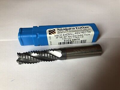 Niagara Cutter Carbide Roughing Endmill 1/2 HSCO 88870