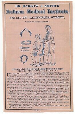 1880s San Francisco Quack Medicine Advertisement Dr Barlow Smith's Institute